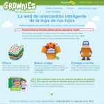 Grownies - web para intercambiar ropa infantil